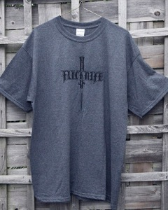 Flicknife Clothing Dark Heather Logo T-shirts