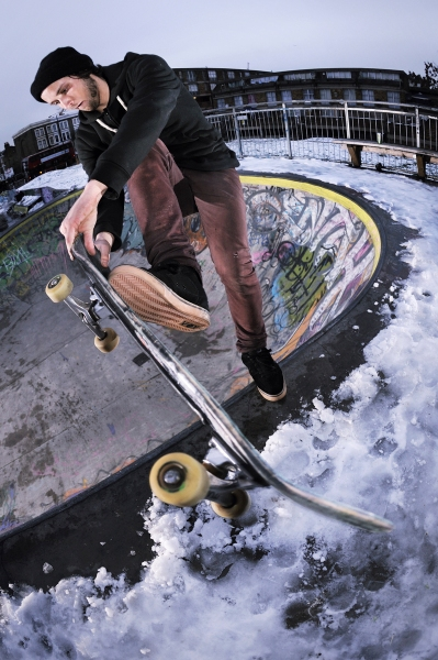 James Hall Flicknife Clothing for Skateboarding stockwell skatepark london photo Rich West