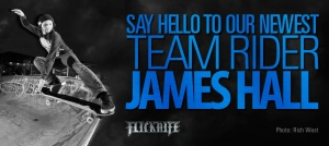 James Hall welcome to the team flicknife clothing