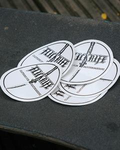 flicknige clothing circular skateboard stickers london skateboarding